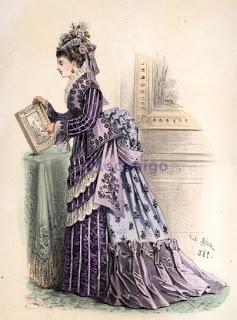 """Exemplo de roupa da época do livro """"Anna Karenina""""."""