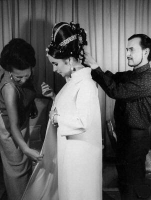 Alexandre e Elizabeth Taylor.