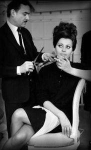 Alexandre e Sophia Loren.