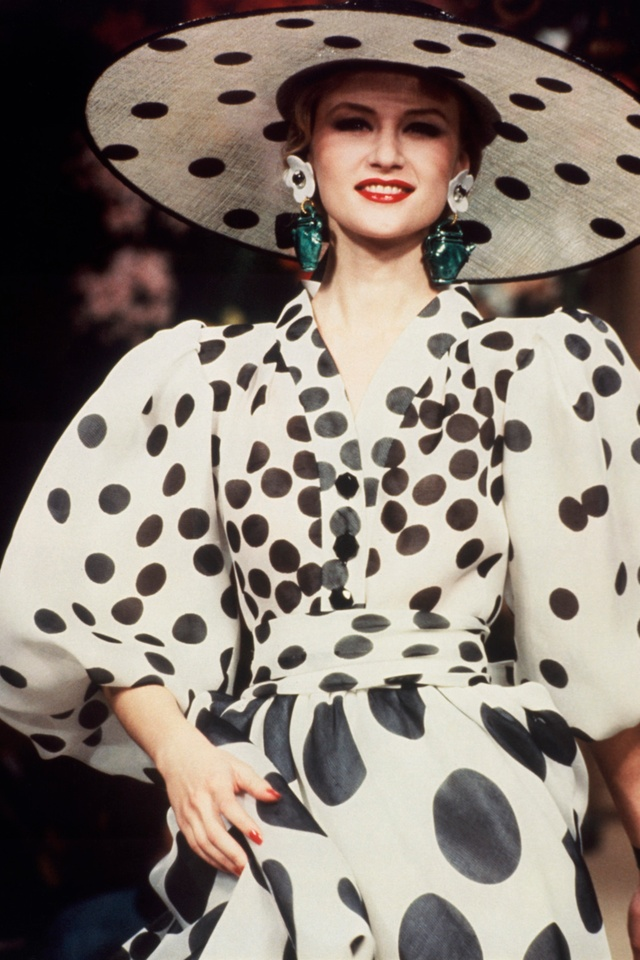 A dress by Yves Saint Laurent, summer 1994. Photographer unknown.