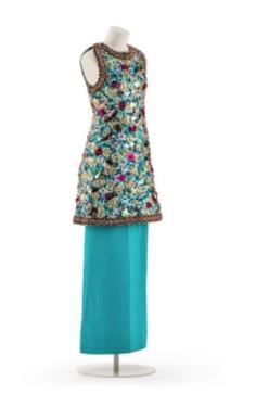 Skirt para Noite com Túnica bordada por Madame Grès, 1979.