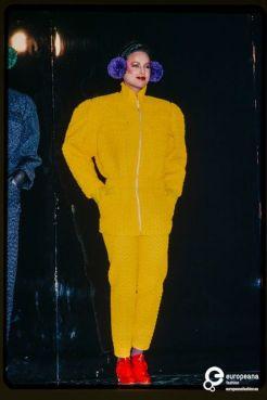 Foto do desfile de Outono/Inverno de 1980.