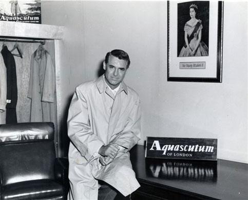 O ator Cary Grant usando Aquascutum.