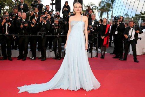 Red Carpet - Diane Kruger vestindo Armani Privé no 71º Festival de Cannes em 2018.