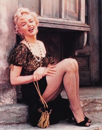 Marilyn Monroe no filme Nunca Fui santa, de 1956.