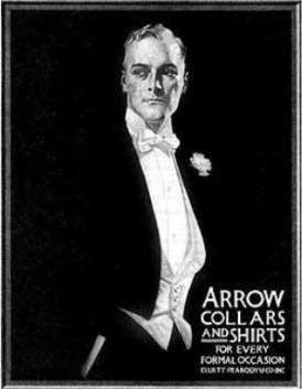 Ilustrado por J. C. Leyendecker para a Arrow.