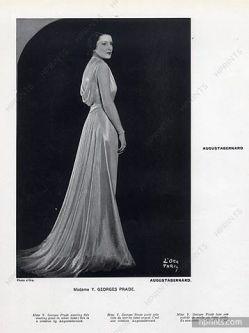 Senhora Georges Prade usando Augustabernard, 1933.