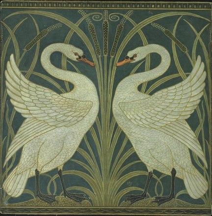 800px-Swan_and_Rush_and_Iris_wallpaper_Walter_Crane