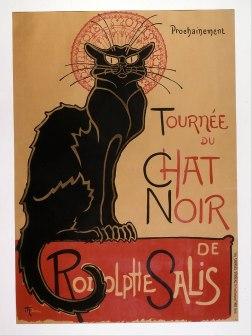 Poster por Theophile-Alexandre Steinlen para o cabaret Le Chat Noir (1896)