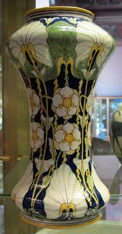 Vaso de flores por Galileo Chini, por volta de 1896-1898.