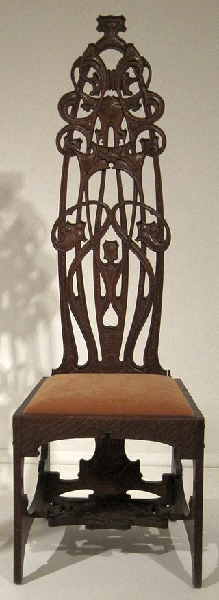 Oak_chair_made_by_Charles_Rohlfs,_1898-99,_Princeton_University_Art_Museum