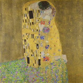 O Beijo por Gustav Klimt.