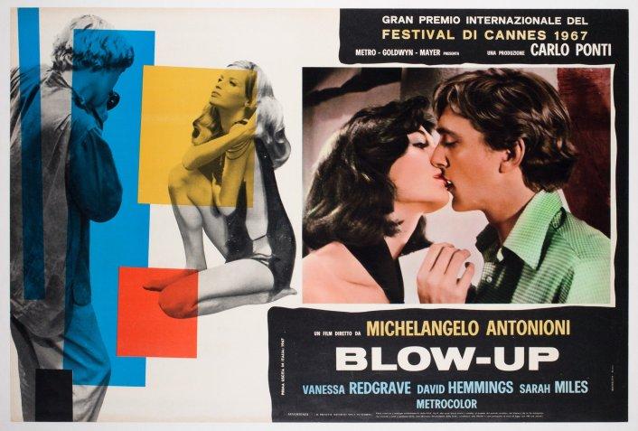 Poster italiano do filme Blow Up.