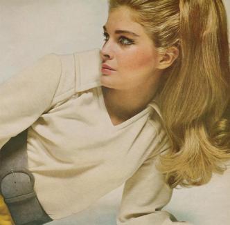 Candice Bergen por David Bailey para Vogue em Agosto de 1967.