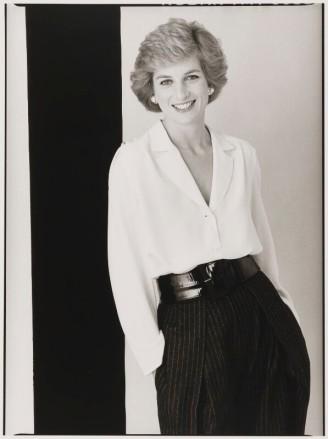 A Princesa Diana por David Bailey em 1988.