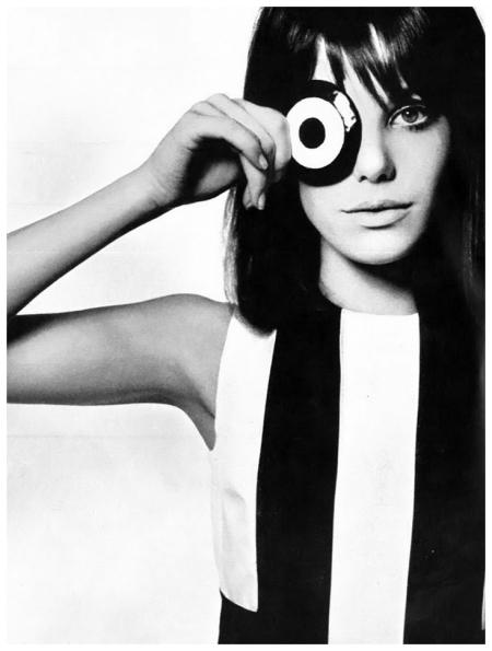 Jane Birkin por David Bailey para Vogue Britânica em Junho de 1965.
