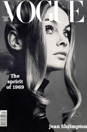 Jean Shrimpton por David Bailey para Vogue, Janeiro de 1969.