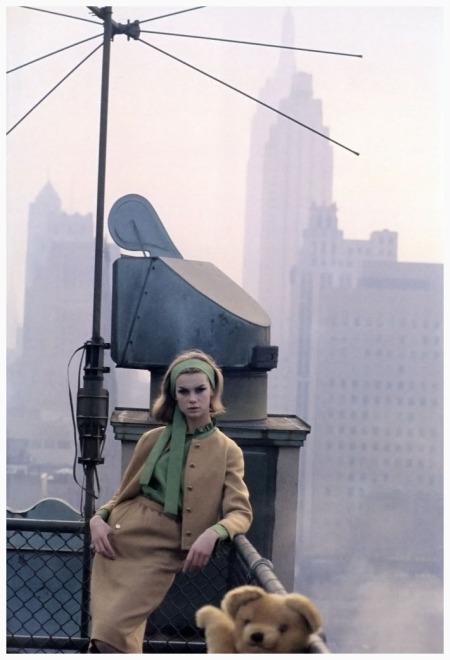 Jean Shrimpton, photo by David Bailey, New York City, 1962