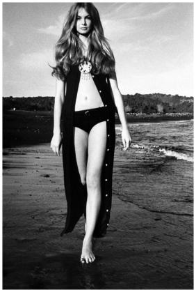 Jean Shrimpton por David Bailey para Vogue em 15 de Janeiro de 1970.