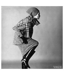 Jean Shrimpton por David Bailey para Vogue em Novembro de 1963.