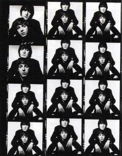 John Lennon e Paul McCartney por David Bailey.