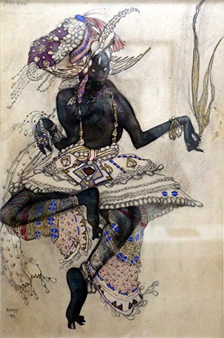 Danza Sacra - Leon Bakst - c1912 costume design Art Print