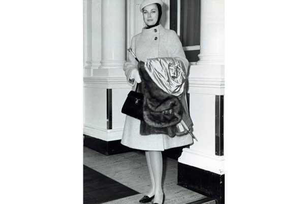grace kelly wearing a balaclava from Dior