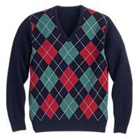 argyle suéter