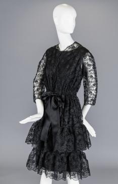 Cocktail dress e casaco, 1964 - Inverno, feito em Paris.